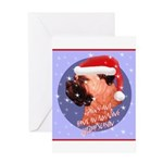 Bull Mastiff Christmas Design Greeting Card