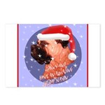 Bull Mastiff Christmas Design Postcards (Package o