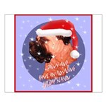 Bull Mastiff Christmas Design Small Poster