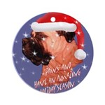 Bull Mastiff Christmas Design Ornament (Round)
