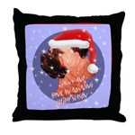 Bull Mastiff Christmas Design Throw Pillow