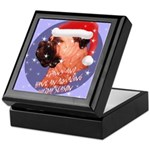 Bull Mastiff Christmas Design Keepsake Box