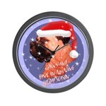 Bull Mastiff Christmas Design Wall Clock