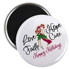 Holiday Hope Throat Cancer Magnet