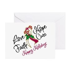 Holiday Hope Throat Cancer Greeting Cards (Pk of 2