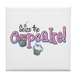 Seize The Cupcake Tile Coaster
