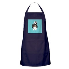 Shitzu BLUE Apron (dark)