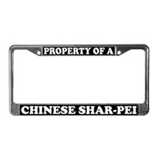 Property Of A Chinese Shar Pei License Plate Frame