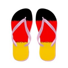 German Flag Flip Flops
