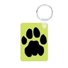 Cougar Mountain Lion Puma Aluminum Yellow Keychain