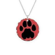 Cougar Mountain Lion Puma Rose Necklace Charm