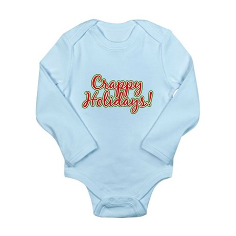 Crappy Holidays Long Sleeve Infant Bodysuit