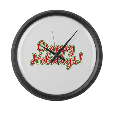 Crappy Holidays Large Wall Clock