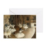 Rehearsal Ballet Onstage Greeting Cards (Pk of 10)