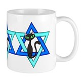 Jewish Cat Stars Mug