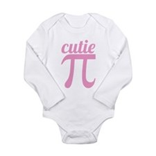 Cutie Pi Pink Long Sleeve Infant Bodysuit