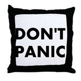 Don't Panic Throw Pillow