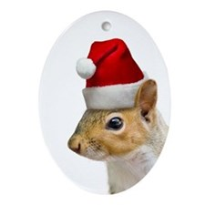 Santa Squirrel Christmas Ornament