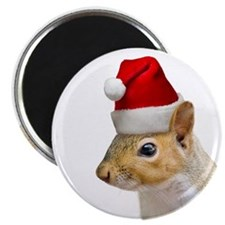 Santa Squirrel Christmas Magnet (10 pack)