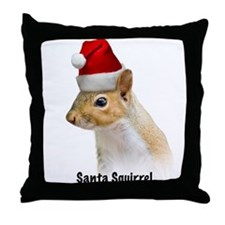 Santa Squirrel ChristmasThrow Pillow