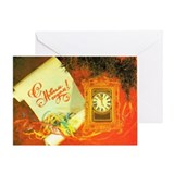 New Year's Unrolled scroll Greeting Card