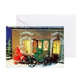 Greeting Card - Santa Claus & his car
