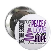 "Christmas 1 Cystic Fibrosis 2.25"" Button (100 pack"