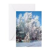 Festive Winter Landscape Greeting Card