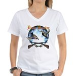 Duck hunter 2 Women's V-Neck T-Shirt