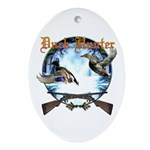 Duck hunter 2 Ornament (Oval)