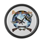 Duck hunter 2 Large Wall Clock
