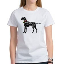 Christmas or Holiday Dalmatian Silhouette Tee