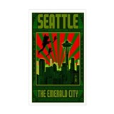 SEATTLE THE EMERALD CITY Decal