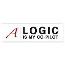 """Logic"" Atheist Gear Bumper Sticker"