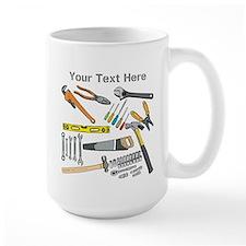 Tools with Gray Text. Mug