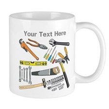 Tools with Gray Text. Mug