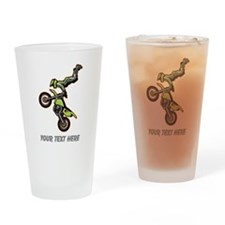 Motocross Jump Drinking Glass