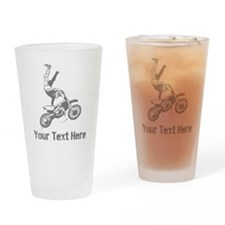 Freestyle Motocross Drinking Glass