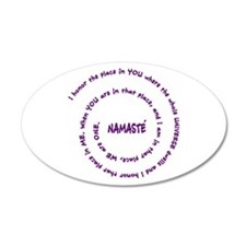 Namaste Meaning in Sacred Pu 38.5 x 24.5 Oval Wall