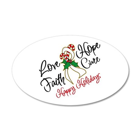 Holiday Hope Retinoblastoma 22x14 Oval Wall Peel