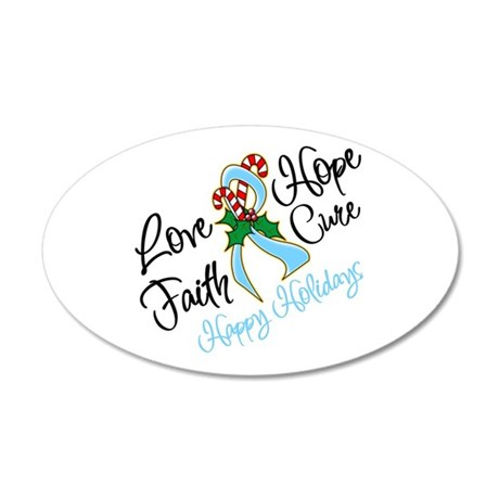 Holiday Hope Prostate Cancer 38.5 x 24.5 Oval Wall