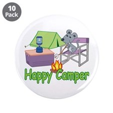 """Happy Camper 3.5"""" Button (10 pack)"""