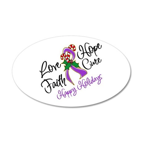 Holiday Hope Pancreatic Cancer 22x14 Oval Wall Pee