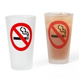 No Smoking Drinking Glass