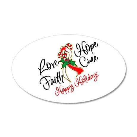 Holiday Hope Oral Cancer 22x14 Oval Wall Peel