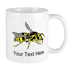 Wasp, with Custom Text. Small Mug