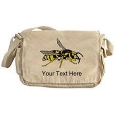 Wasp, with Custom Text. Messenger Bag