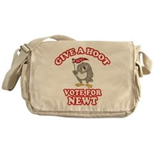 Give A Hoot Vote For Newt Messenger Bag