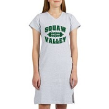 Squaw Valley Old Style Green Women's Nightshirt
