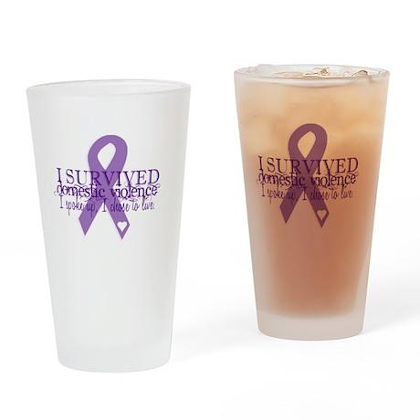 Domestic Violence Survivor Drinking Glass